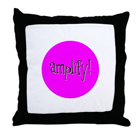 Amplify Pink Throw Pillow