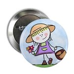 Garden Girl Button