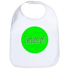 believe green Bib