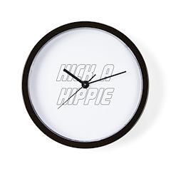Kick A Hippie Wall Clock