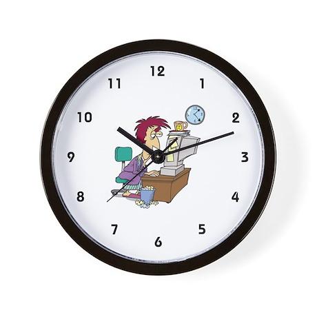 Self-Employed Wall Clock