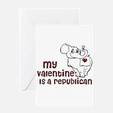 Unique Valentines republican Greeting Card