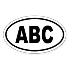 ABC Oval Decal