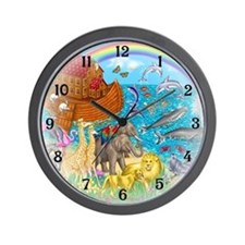 Noah's Ark Animal Wall Clock