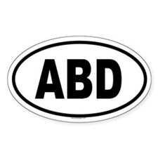 ABD Oval Decal