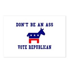 Don't Be An Ass, Vote Republi Postcards (Package o