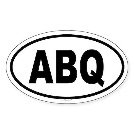 ABQ Oval Sticker