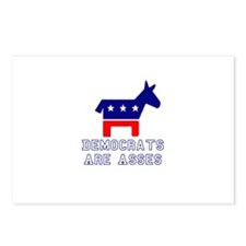 Democrats Are Asses Postcards (Package of 8)