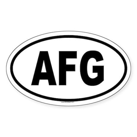 AFG Oval Sticker