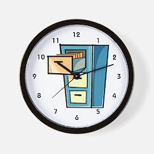 File Clerk Wall Clock