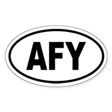 AFY Oval Decal