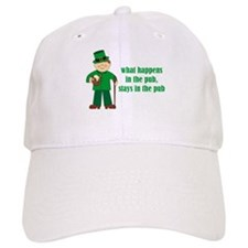 WHAT HAPPENS IN THE PUB-IRISH ST PADDY'S DAY Baseball Cap
