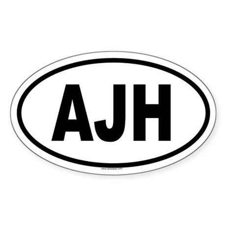 AJH Oval Sticker