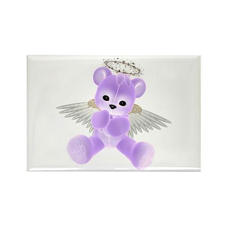 PURPLE ANGEL BEAR 2 Rectangle Magnet