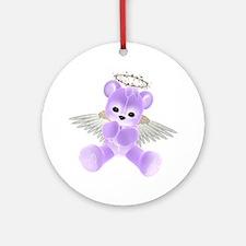 PURPLE ANGEL BEAR 2 Ornament (Round)