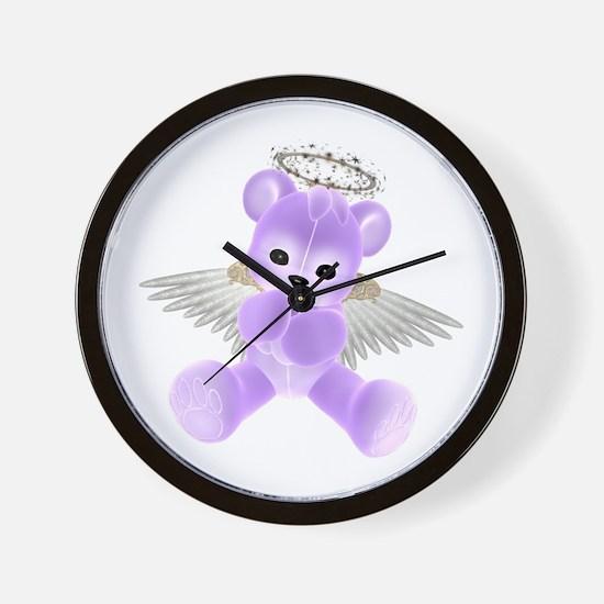 PURPLE ANGEL BEAR 2 Wall Clock
