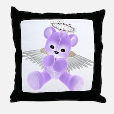 PURPLE ANGEL BEAR 2 Throw Pillow