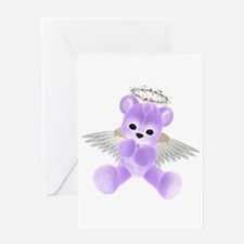 PURPLE ANGEL BEAR 2 Greeting Card