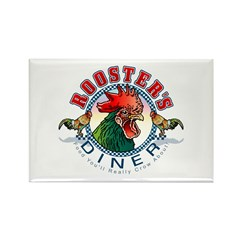 ROOSTER'S DINER Rectangle Magnet
