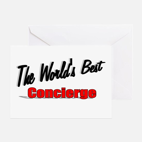"""The World's Best Concierge"" Greeting Card"