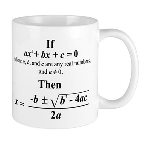 Quadratic Formula Mug