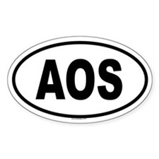 AOS Oval Decal