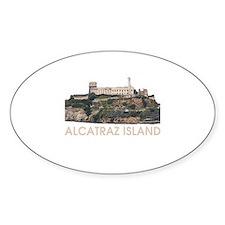 Alcatraz Island Oval Decal