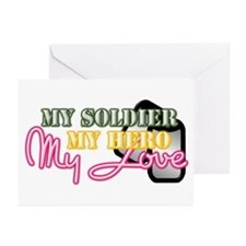 myherosoldier Greeting Cards
