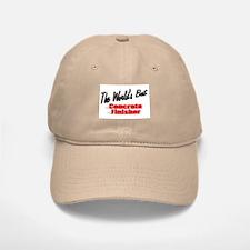 """""""The World's Best Concrete Finisher"""" Baseball Baseball Cap"""