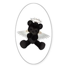 BLACK ANGEL BEAR Oval Decal