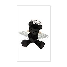 BLACK ANGEL BEAR Rectangle Decal