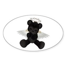 BLACK ANGEL BEAR Oval Decal