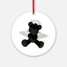 BLACK ANGEL BEAR Ornament (Round)