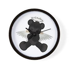 BLACK ANGEL BEAR Wall Clock