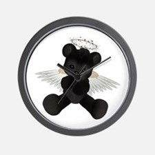 BLACK ANGEL BEAR Wall Clock