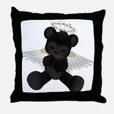 BLACK ANGEL BEAR Throw Pillow