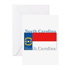 North Carolina State Flag Greeting Cards (Pk of 20