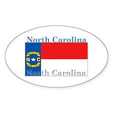 North Carolina State Flag Oval Decal