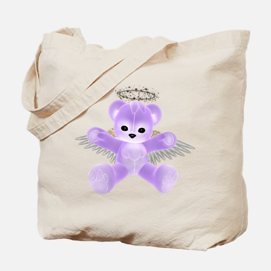 PURPLE ANGEL BEAR Tote Bag