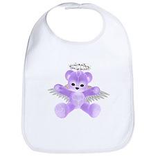 PURPLE ANGEL BEAR Bib