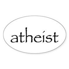 atheist Oval Decal