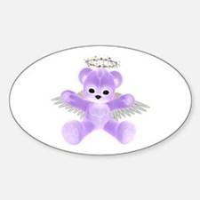 PURPLE ANGEL BEAR Oval Decal