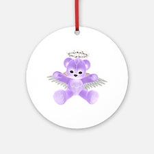 PURPLE ANGEL BEAR Ornament (Round)