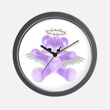 PURPLE ANGEL BEAR Wall Clock