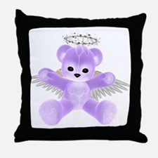 PURPLE ANGEL BEAR Throw Pillow
