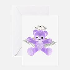 PURPLE ANGEL BEAR Greeting Card