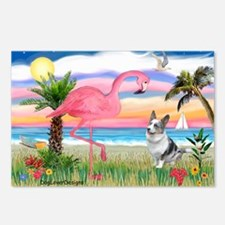 Flamingo & Corgi Postcards (Package of 8)