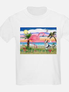 Flamingo & Corgi T-Shirt