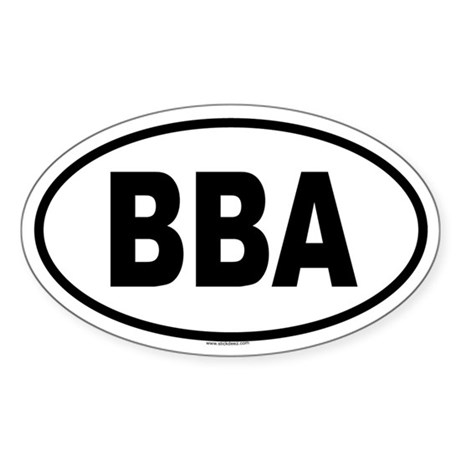BBA Oval Sticker