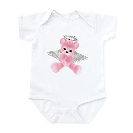 PINK ANGEL BEAR 2 Infant Bodysuit